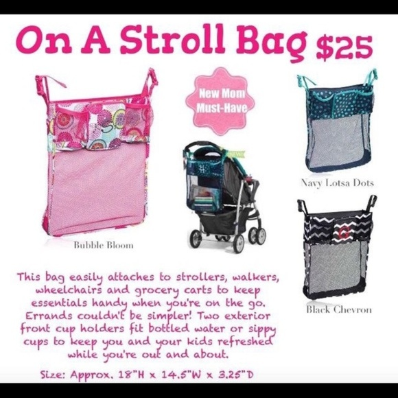 thirty-one Handbags - Thirty One On a Stroll Stroller Bag Bubble Bloom